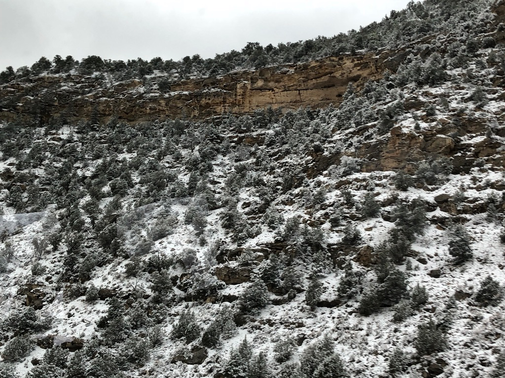 We didn't expect to see snow in Utah!