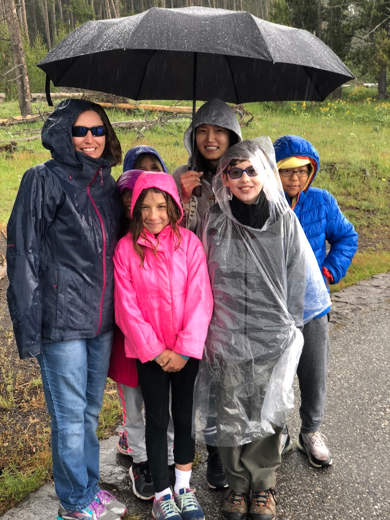 Trying to stay dry!