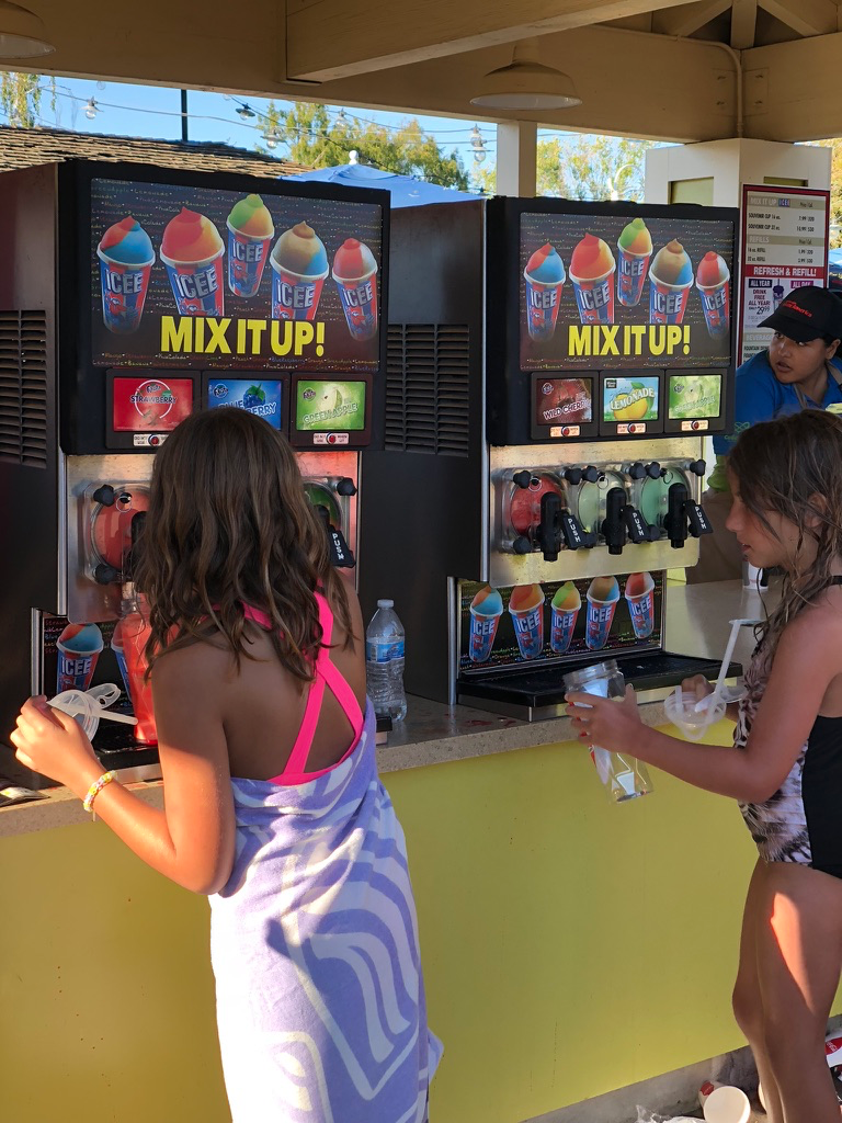 Icees anyone? We had a Buy One, Get One free Coupon in the Great America App