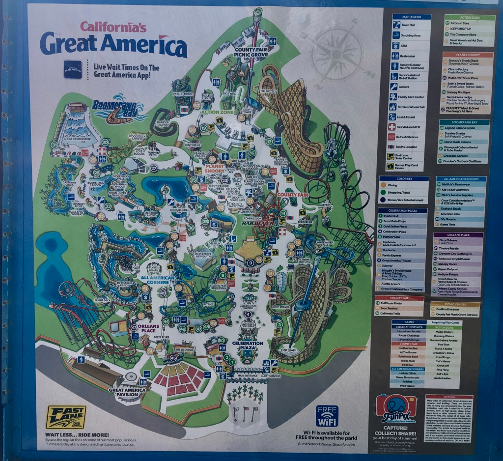 Map of Great America