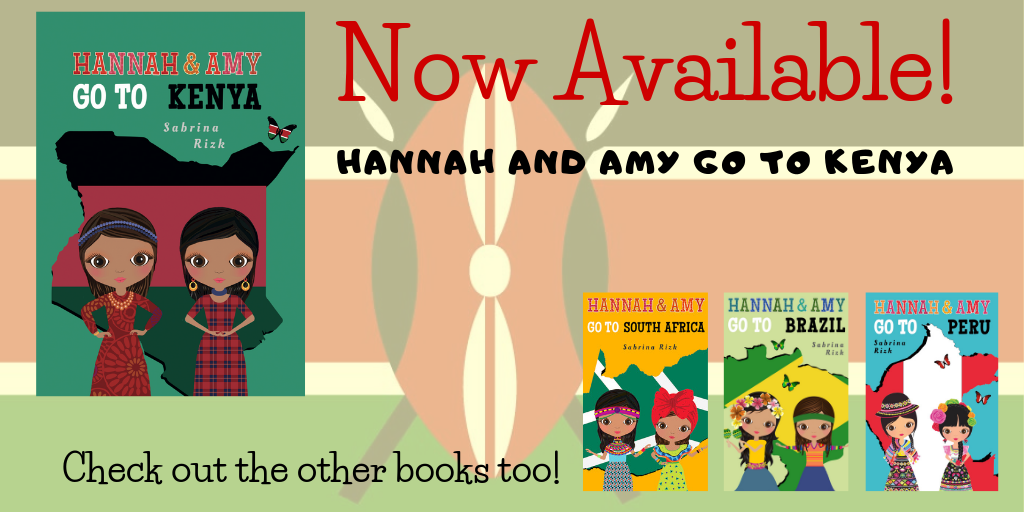 Hannah and Amy Go To Kenya - the newest Children's book in the Hannah and Amy Series is now available!
